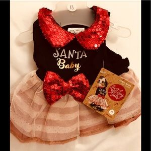 Other - NEW Santa baby dog dress. XS
